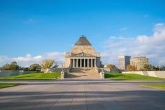 Η λάρνακα της ενθύμησης Πρώτος Παγκόσμιος Πόλεμος & ΙΙ μνημείο στη Μελβούρνη Στοκ Φωτογραφίες