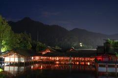 Η λάρνακα Itsukushima Miyajima, διάσημο ορόσημο στη Χιροσίμα, Ιαπωνία Στοκ εικόνες με δικαίωμα ελεύθερης χρήσης