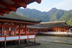 Η λάρνακα Itsukushima Miyajima, διάσημο ορόσημο στη Χιροσίμα, Ιαπωνία Στοκ φωτογραφίες με δικαίωμα ελεύθερης χρήσης