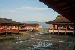 Η λάρνακα Itsukushima Miyajima, διάσημο ορόσημο στη Χιροσίμα, Ιαπωνία Στοκ Φωτογραφία