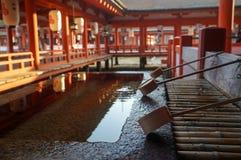 Η λάρνακα Itsukushima Miyajima, διάσημο ορόσημο στη Χιροσίμα, Ιαπωνία Στοκ Εικόνα