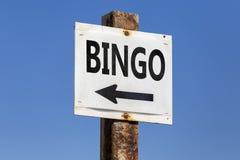 Η λέξη και το βέλος Bingo καθοδηγούν Στοκ εικόνες με δικαίωμα ελεύθερης χρήσης