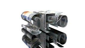 Η λέξη SEO που αποτελείται από τα αμερικανικά δολάρια, η έννοια της εξάρτησης κέρδους στις τεχνολογίες SEO απεικόνιση αποθεμάτων