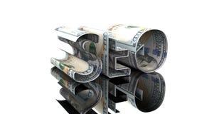 Η λέξη SEO που αποτελείται από τα αμερικανικά δολάρια, η έννοια της εξάρτησης κέρδους στο hromakey τεχνολογιών SEO ελεύθερη απεικόνιση δικαιώματος