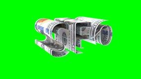 Η λέξη SEO που αποτελείται από τα αμερικανικά δολάρια, η έννοια της εξάρτησης κέρδους στις τεχνολογίες SEO, βασικό άλφα κανάλι hr ελεύθερη απεικόνιση δικαιώματος