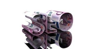 Η λέξη SEO που αποτελείται από το ευρώ, η έννοια της εξάρτησης κέρδους στο hromakey τεχνολογιών SEO ελεύθερη απεικόνιση δικαιώματος