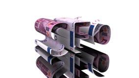 Η λέξη SEO που αποτελείται από το ευρώ, η έννοια της εξάρτησης κέρδους στο hromakey τεχνολογιών SEO διανυσματική απεικόνιση