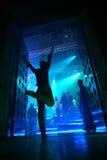 η λέσχη εισάγει τη νύχτα Στοκ εικόνα με δικαίωμα ελεύθερης χρήσης