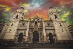 Η Λίμα είναι πόλη στη παράλια Ειρηνικού της Νότιας Αμερικής Στοκ Εικόνα