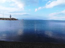 Η λίμνη και οι άμμοι φορτηγών στοκ φωτογραφίες με δικαίωμα ελεύθερης χρήσης