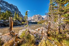 Η λίμνη λιμνών, δύσκολα βουνά, Κολοράντο, ΗΠΑ στοκ εικόνες