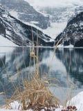 η λίμνη ο χειμώνας Στοκ Εικόνες