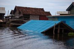 Η λίμνη σφρίγους Tonle ήταν σοβαρά πλημμυρισμένη Στοκ εικόνες με δικαίωμα ελεύθερης χρήσης