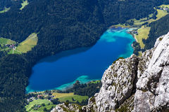 Η λίμνη Hintersteiner βλέπει στην Αυστρία, Τύρολο Στοκ Φωτογραφίες