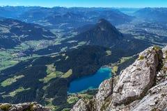 Η λίμνη Hintersteiner βλέπει στην Αυστρία Στοκ Φωτογραφίες