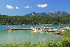 Η λίμνη Klopeiner βλέπει, Carinthia, Αυστρία Στοκ Φωτογραφίες
