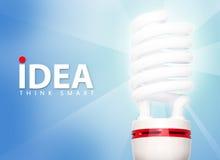 η λαμπρή ιδέα έξυπνη σκέφτετ&alph Στοκ Φωτογραφίες