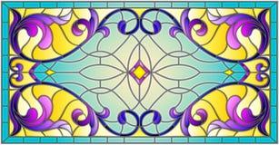 Η λεκιασμένη απεικόνιση γυαλιού με την περίληψη στροβιλίζεται, ανθίζει και φεύγει σε ένα ελαφρύ υπόβαθρο, οριζόντιος προσανατολισ απεικόνιση αποθεμάτων
