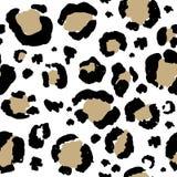 Η λεοπάρδαλη όρισε το άνευ ραφής σχέδιο Ζωώδης τυπωμένη ύλη απεικόνιση αποθεμάτων