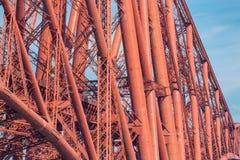 Η λεπτομέρεια κατασκευής γεφυρώνει εμπρός πέρα από την εκβολή εμπρός στη Σκωτία Στοκ Φωτογραφίες
