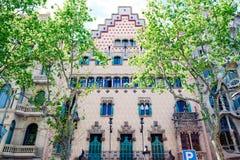 Η λεπτομέρεια της πρόσοψης του νεωτεριστικού σπιτιού κάλεσε Casa Amatller, που βρέθηκε Manzana de Λα Discordia, που σχεδιάστηκε κ Στοκ φωτογραφίες με δικαίωμα ελεύθερης χρήσης