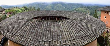 Η λεπτομέρεια του Fujian Tulou, η κινεζική αγροτική χωμάτινη κατοικία μοναδική στη μειονότητα Hakka στην επαρχία Fujian στην Κίνα στοκ φωτογραφίες με δικαίωμα ελεύθερης χρήσης