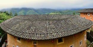 Η λεπτομέρεια του Fujian Tulou, η κινεζική αγροτική χωμάτινη κατοικία μοναδική στη μειονότητα Hakka στην επαρχία Fujian στην Κίνα στοκ φωτογραφίες