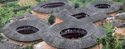 Η λεπτομέρεια του Fujian Tulou, η κινεζική αγροτική χωμάτινη κατοικία μοναδική στη μειονότητα Hakka στην επαρχία Fujian στην Κίνα στοκ φωτογραφία με δικαίωμα ελεύθερης χρήσης