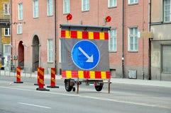 η λοξοδρόμηση κρατά δεξιά τ Στοκ εικόνα με δικαίωμα ελεύθερης χρήσης