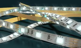 Η λουρίδα διόδων οδήγησε την κινηματογράφηση σε πρώτο πλάνο ταινιών φω'των τρισδιάστατη δίνει στο darck απεικόνιση αποθεμάτων