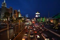 Η λουρίδα, Λας Βέγκας, μεγάλος MGM, μητροπολιτική περιοχή, μητρόπολη, εικονική παράσταση πόλης, νύχτα Στοκ φωτογραφία με δικαίωμα ελεύθερης χρήσης