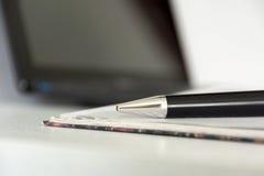 η μάνδρα, ημερολόγιο, σημειωματάριο, χαρτικά, συσκευή, συσκευή, lap-top, υπολογίζει Στοκ φωτογραφία με δικαίωμα ελεύθερης χρήσης