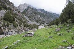 Η μάνδρα προβάτων στο Κιργιστάν Στοκ εικόνα με δικαίωμα ελεύθερης χρήσης