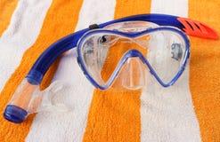 Η μάσκα και κολυμπά με αναπνευτήρα Στοκ φωτογραφία με δικαίωμα ελεύθερης χρήσης
