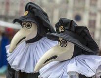 Η μάσκα του γιατρού πανούκλας (ιατρο della Peste) Στοκ Φωτογραφία