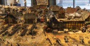 Η μάχη της Λειψίας ή μάχη των εθνών, 1813 στοκ φωτογραφία με δικαίωμα ελεύθερης χρήσης