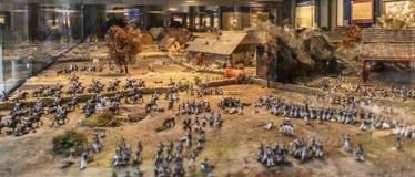 Η μάχη της Λειψίας ή μάχη των εθνών, 1813 στοκ εικόνα με δικαίωμα ελεύθερης χρήσης