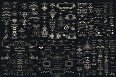 Η μέγα συλλογή του διανυσματικού χεριού που σύρεται ακμάζει Στοκ Εικόνες