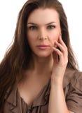 Η μέση γυναίκα ηλικίας ομορφιάς με φυσικό αποτελεί Στοκ εικόνες με δικαίωμα ελεύθερης χρήσης
