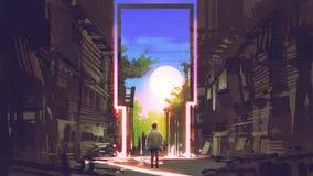 Η μαγική πύλη στην όμορφη θέση ελεύθερη απεικόνιση δικαιώματος