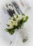 η μακρο φωτογραφία πετάλων λουλουδιών pistil αυξήθηκε stamens έξοχο λευκό Στοκ εικόνες με δικαίωμα ελεύθερης χρήσης