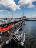 Η μακρύτερη ξύλινη αποβάθρα στην Ευρώπη Στοκ Εικόνα