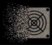 Η μαλακή εξαφάνιση διέστιξε το ημίτονο εικονίδιο συσκευών μεταλλείας ASIC ελεύθερη απεικόνιση δικαιώματος