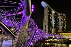 η μαρίνα κόλπων στρώνει με άμμο Σινγκαπούρη Στοκ φωτογραφία με δικαίωμα ελεύθερης χρήσης