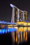 η μαρίνα κόλπων στρώνει με άμμο Σινγκαπούρη Στοκ Εικόνες