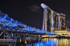 η μαρίνα κόλπων στρώνει με άμμο Σινγκαπούρη Στοκ Εικόνα