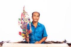 Η μαριονέτα σκιών της Ταϊλάνδης παρουσιάζει Στοκ εικόνες με δικαίωμα ελεύθερης χρήσης