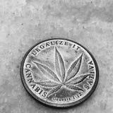 Η μαριχουάνα αυτό νόμισμα Στοκ Φωτογραφία