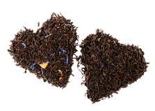 η μαύρη γκρίζα κυρία κόμη χαλαρώνει το τσάι Στοκ Φωτογραφίες