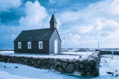 Η μαύρη εκκλησία από το ξενοδοχείο Budir Στοκ φωτογραφίες με δικαίωμα ελεύθερης χρήσης